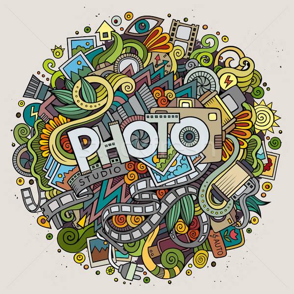 漫画 かわいい 手描き 写真 碑文 ストックフォト © balabolka