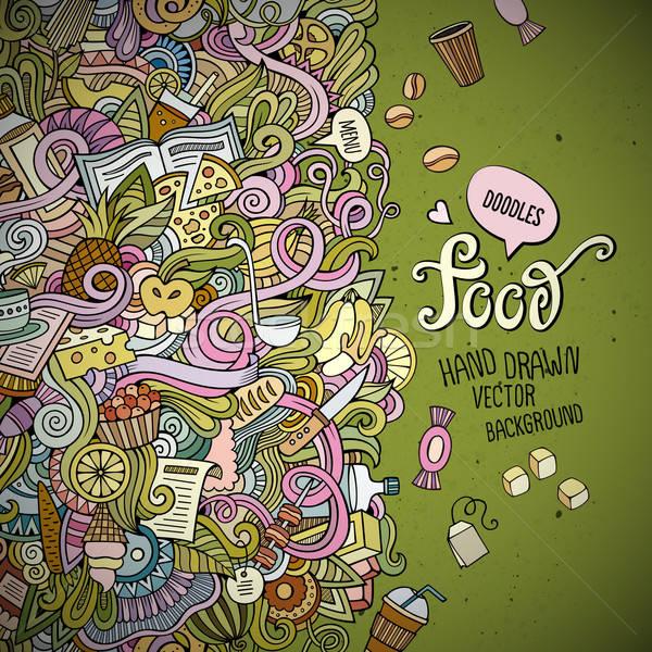 Abstrato vetor decorativo comida modelo Foto stock © balabolka