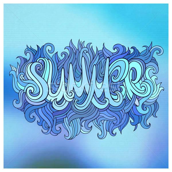 夏天 手 塗鴉 分子 花 太陽 商業照片 © balabolka
