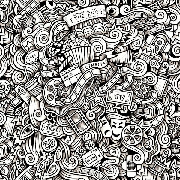 Cartoon scarabocchi cinema stile contorno Foto d'archivio © balabolka