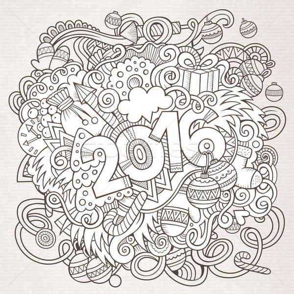 2016 год стороны Элементы вектора Сток-фото © balabolka