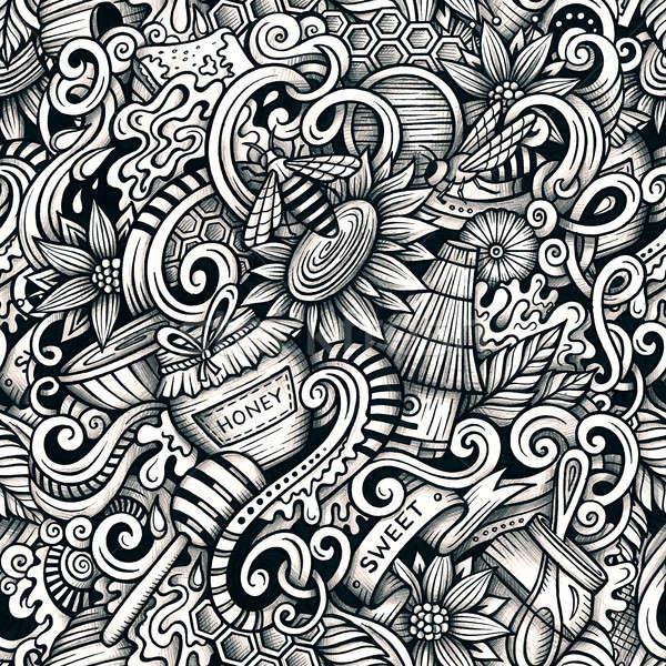 Desenho animado mel linha arte Foto stock © balabolka