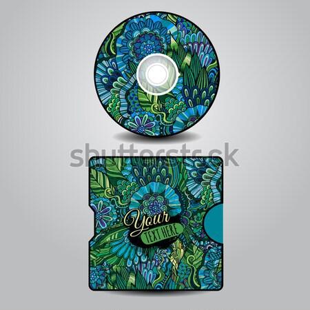 Vector cd dekken ontwerp sjablonen Stockfoto © balabolka