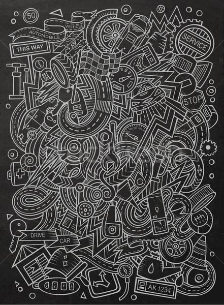 Karikatür sevimli karalamalar örnek hat Stok fotoğraf © balabolka