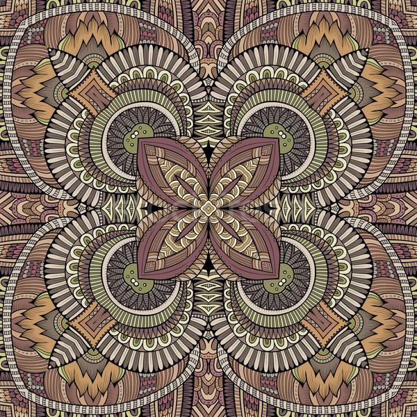 抽象 向量 部落的 民族 裝飾的 手工繪製 商業照片 © balabolka