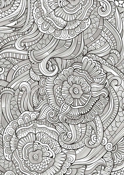 Abstract sketchy decorative doodles hand drawn ethnic pattern Stock photo © balabolka