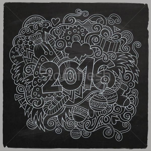 2016 Новый год стороны Элементы вектора Сток-фото © balabolka
