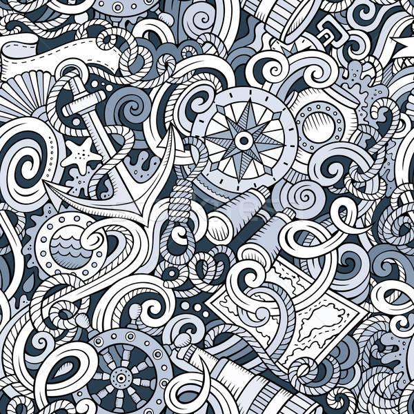 Stok fotoğraf: Karikatür · deniz · karalamalar · ayrıntılı · hat