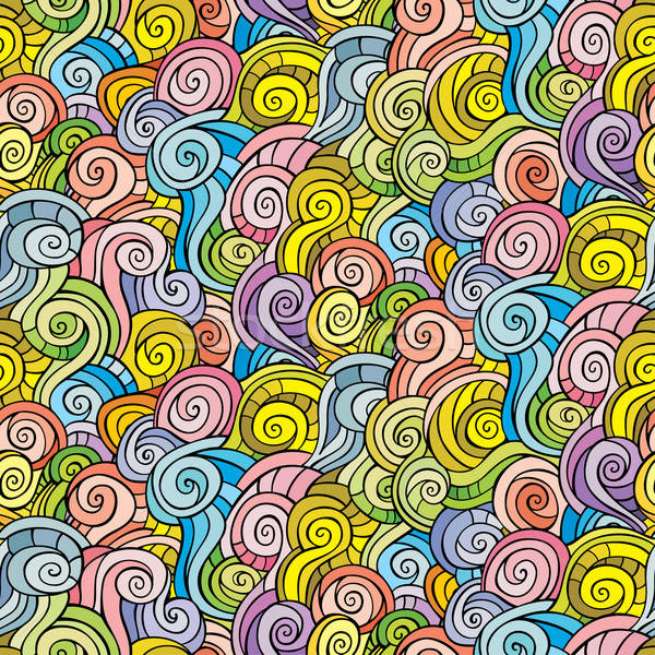 Stock photo: Seamless abstract hand-drawn pattern