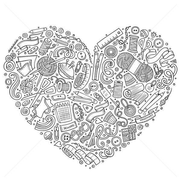 カラフル ベクトル セット ハンドメイド 漫画 いたずら書き ストックフォト © balabolka