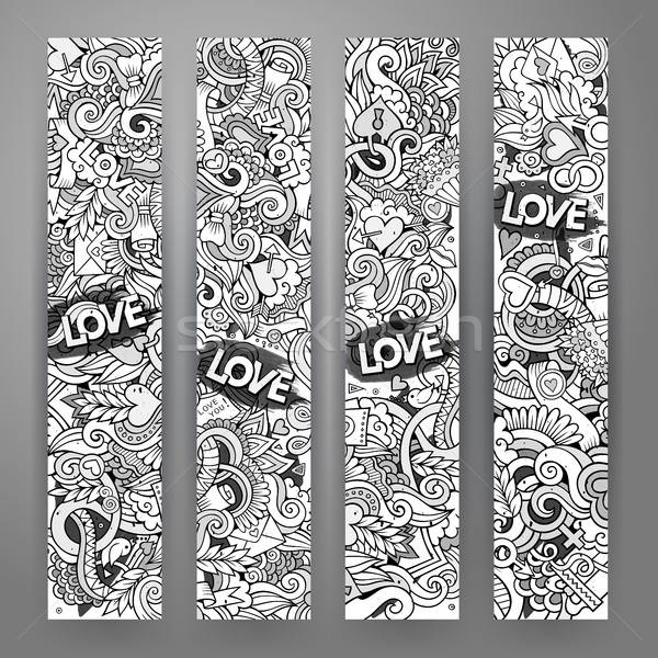 Graphics vector hand-drawn Love and Valentines Doodle. Stock photo © balabolka