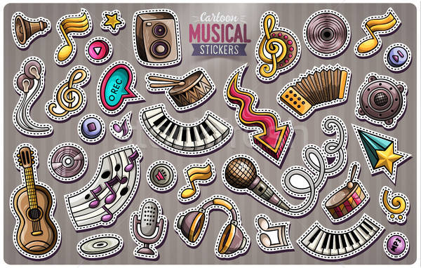 Set vettore musica cartoon doodle Foto d'archivio © balabolka