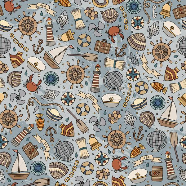 Stok fotoğraf: Karikatür · deniz · sevimli · deniz