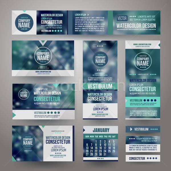 Stockfoto: Vector · corporate · identiteit · sjablonen · wazig · abstract