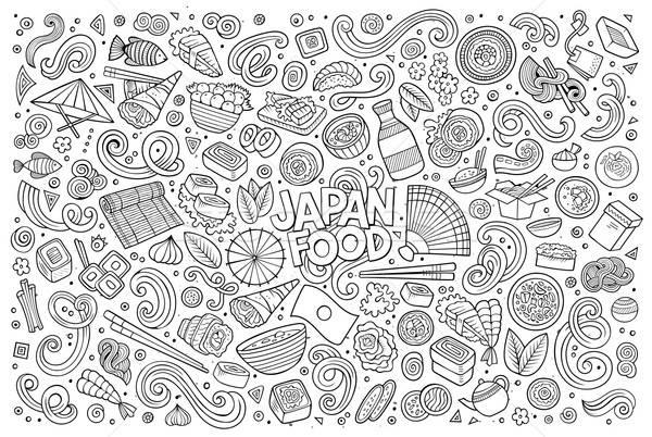 行 芸術 ベクトル 漫画 セット 日本 ストックフォト © balabolka