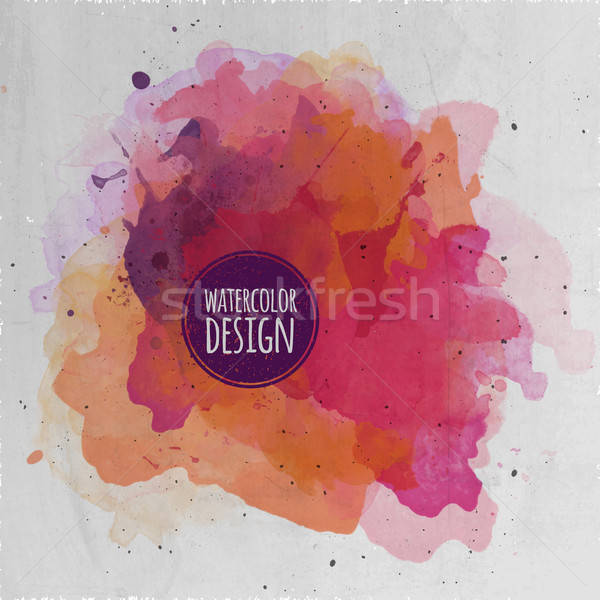 Vector watercolor paint abstract background Stock photo © balabolka