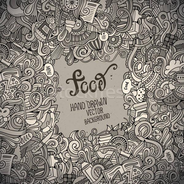 аннотация вектора декоративный продовольствие шаблон Сток-фото © balabolka