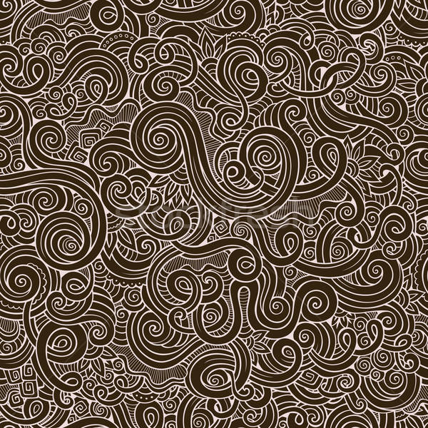 Decorative hand drawn doodle nature ornamental curl vector Stock photo © balabolka
