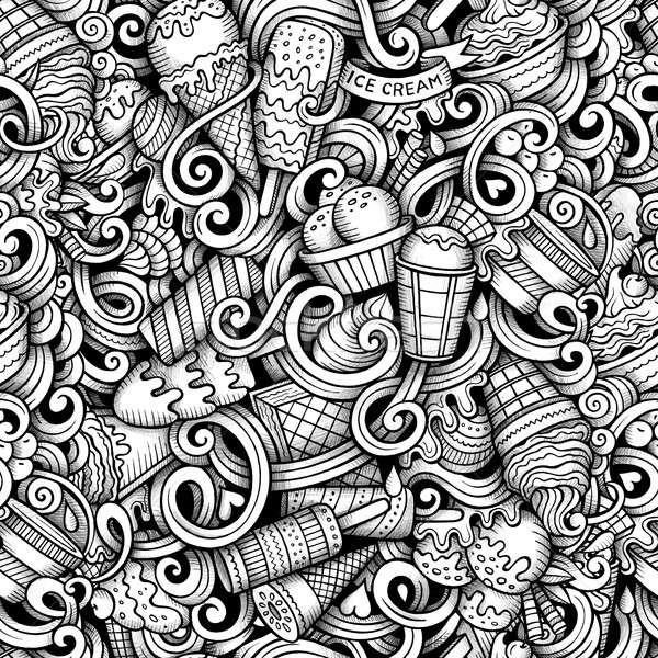 Cartoon gelato scarabocchi line Foto d'archivio © balabolka