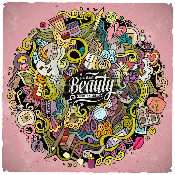 Cartoon Cute Doodles Hand Drawn Beauty Illustration Vector