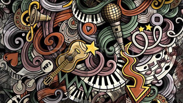 Garabatos música ilustración creativa musical colorido Foto stock © balabolka