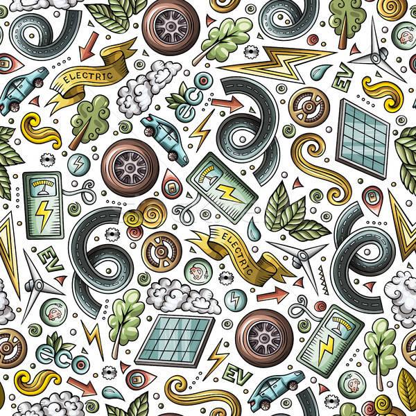 Desenho animado bonitinho elétrico carros Foto stock © balabolka
