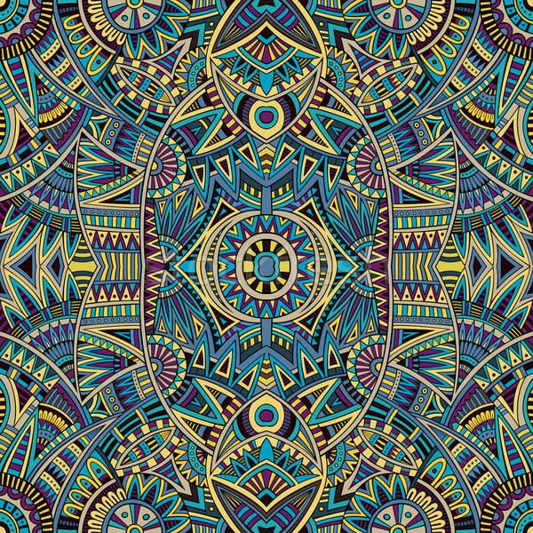 Abstract vector tribal ethnic background Stock photo © balabolka