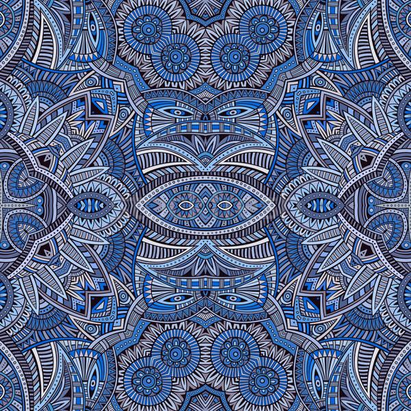 Absztrakt vektor törzsi kisebbségi végtelen minta divat Stock fotó © balabolka
