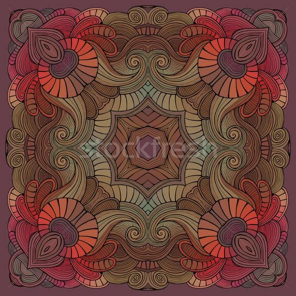 Abstrato vetor tribal étnico decorativo floral Foto stock © balabolka