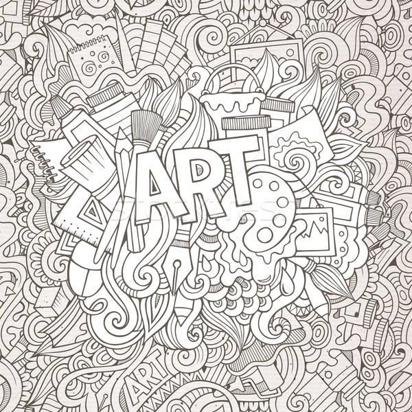 Foto stock: Desenho · animado · bonitinho · ilustração · brilhante