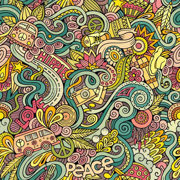 漫畫 塗鴉 嬉皮士 風格 商業照片 © balabolka