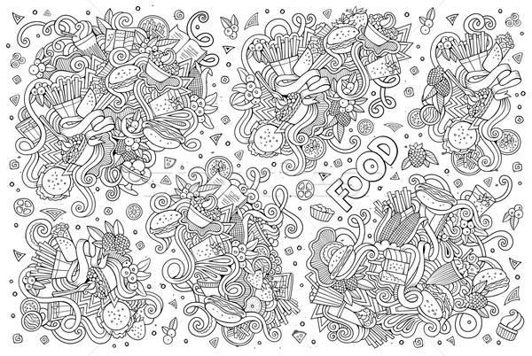 Foto d'archivio: Line · arte · vettore · scarabocchi · cartoon