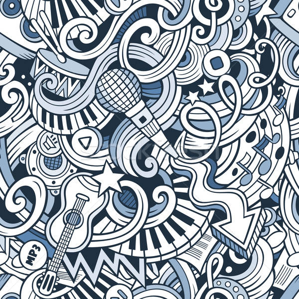 Cartoon garabatos música estilo vector Foto stock © balabolka