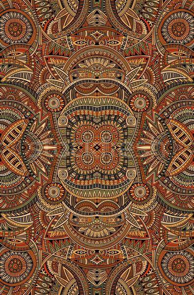Streszczenie wektora plemiennych etnicznych dekoracyjny Zdjęcia stock © balabolka