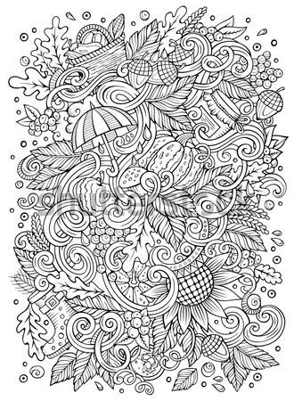 Desenho animado hippie ilustração linha arte Foto stock © balabolka
