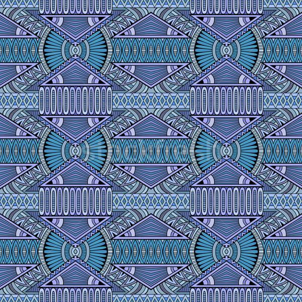 部族 民族 抽象的な ベクトル 花 ストックフォト © balabolka