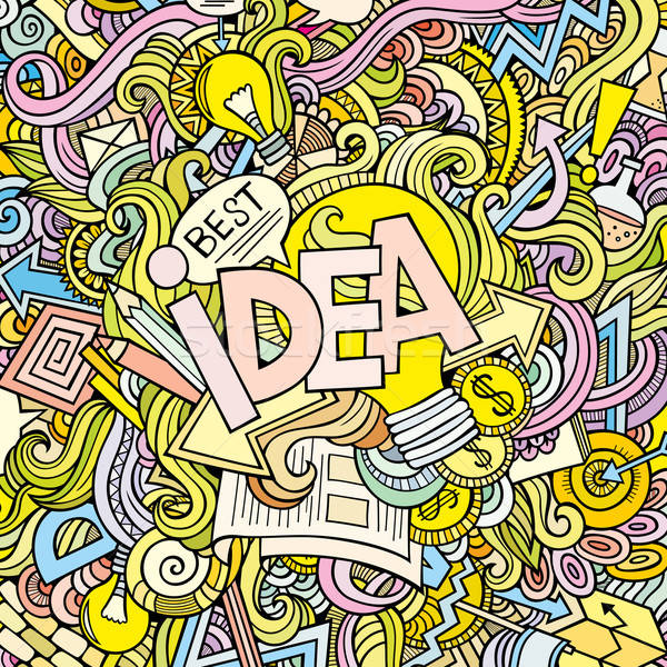 Idea hand lettering and doodles elements background Stock photo © balabolka
