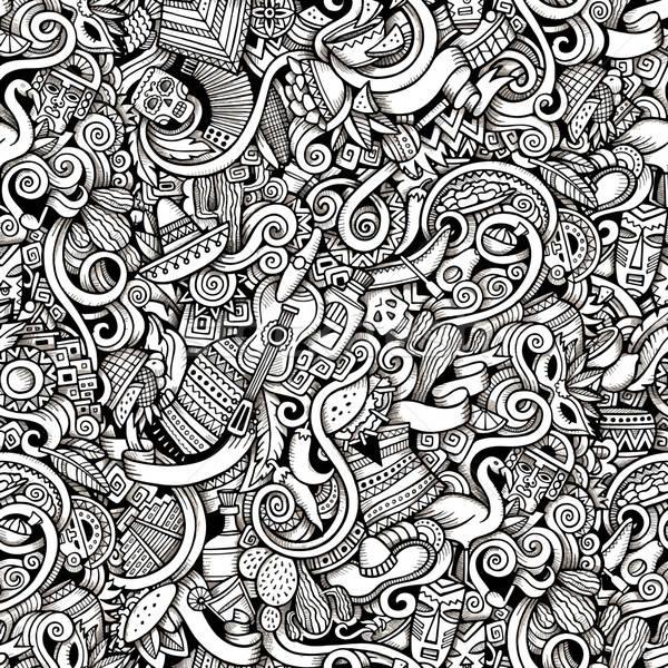 Cartoon bazgroły ameryka Łacińska amerykański stylu Zdjęcia stock © balabolka