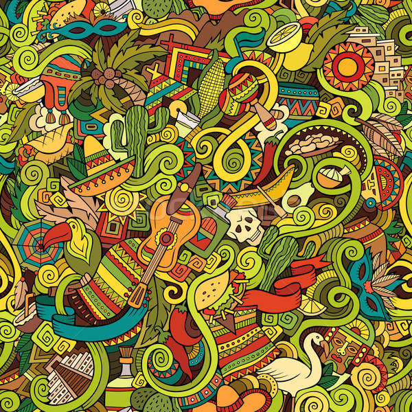 Desenho animado américa latina americano estilo Foto stock © balabolka