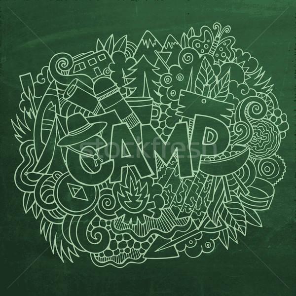 летний лагерь стороны Элементы вектора Сток-фото © balabolka