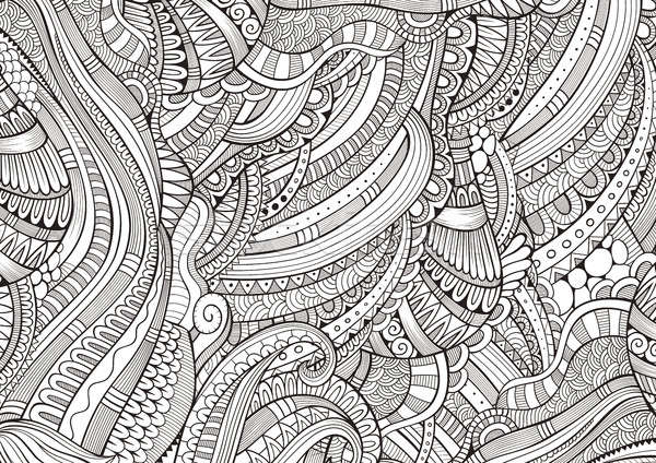 Stock photo: Abstract sketchy doodles hand drawn ethnic pattern