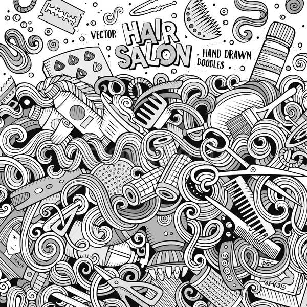 漫画 かわいい 美容院 フレーム デザイン ストックフォト © balabolka