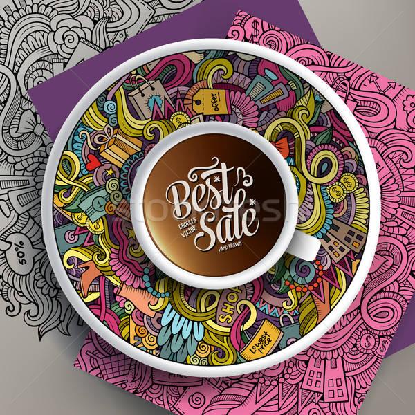 ベクトル アップ コーヒー 販売 ソーサー ストックフォト © balabolka