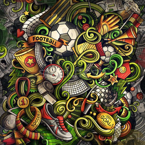 Doodles Soccer graphics illustration Stock photo © balabolka