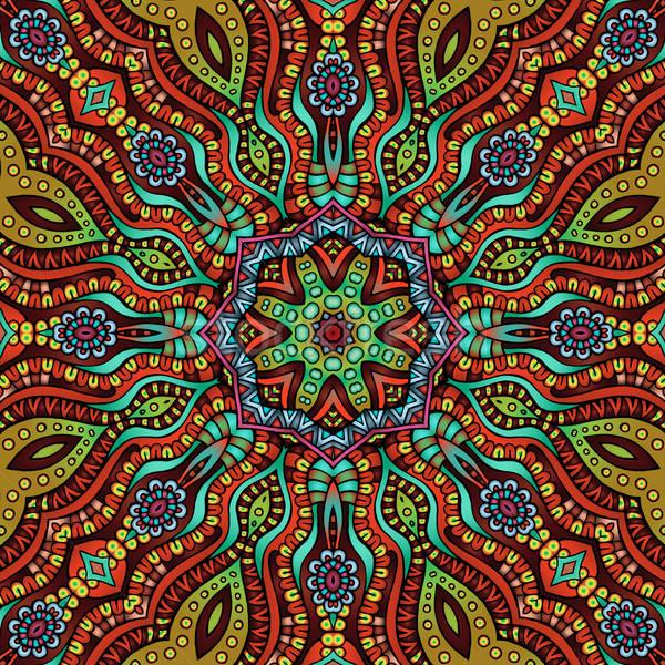Circle decorative ornamental pattern Stock photo © balabolka