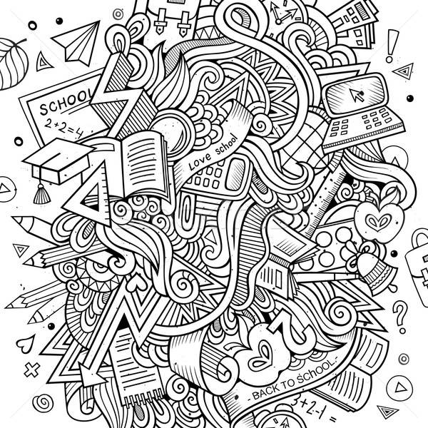 Cartoon vector Doodle education Stock photo © balabolka