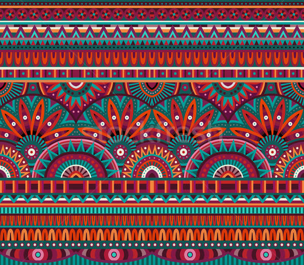 Stock photo: tribal ethnic background seamless pattern