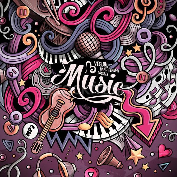 Desenho animado musical ilustração 3D colorido Foto stock © balabolka