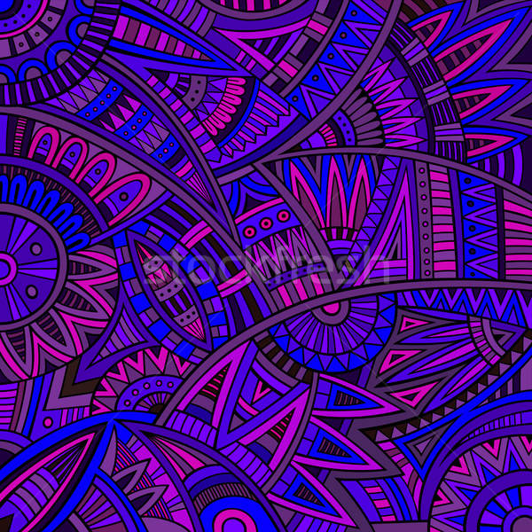 Abstrakten Vektor tribal ethnischen Muster Hippie Stock foto © balabolka
