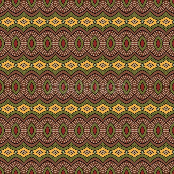 Foto d'archivio: Abstract · vettore · tribali · etnica · tessuto